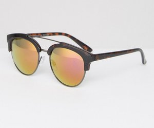 Read more about Mango brow bar mirrored sunglasses - multi