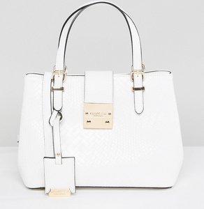 Read more about Carvela mini slouch tote bag - white oth