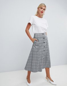 Read more about Vila check button through skirt - lgm