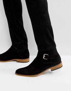 Read more about House of hounds adrian suede buckle boots in black - black