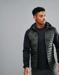 Read more about Jack jones tech multi quilt camo jacket - black olive night