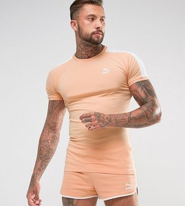 Read more about Puma t7 logo muscle fit t-shirt in orange exclusive to asos 57700215 - orange