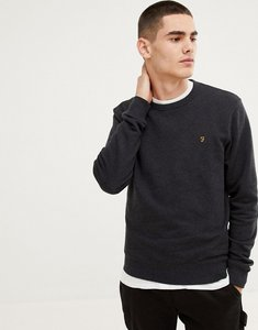 Read more about Farah tim crew neck sweat in black - black