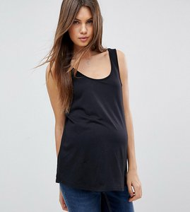 Read more about Asos design maternity ultimate vest in black - black