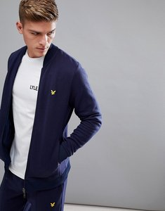 Read more about Lyle scott fitness james knitted fleece jacket in navy - navy