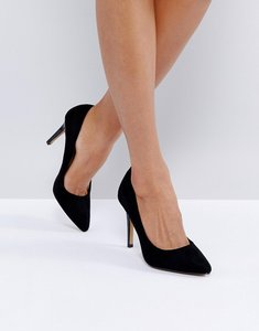 Read more about Head over heels alice black heeled court shoes - black