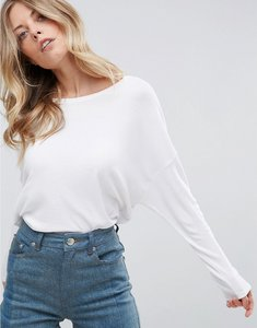 Read more about Asos oversized t-shirt with batwing detail - white