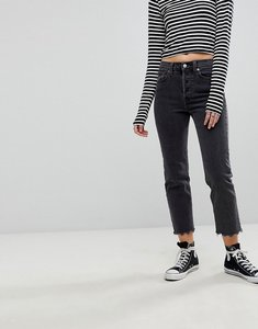 Read more about Levi s straight leg jean with raw hem - that girl