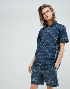 Read more about Element island print shirt - blue