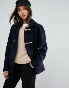 Read more about Gloverall shawl collar duffle coat - navy n a