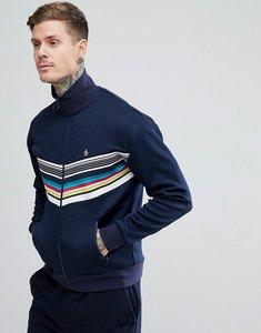 Read more about Original penguin rainbow chevron track jacket slim fit small logo in navy - dark sapphire