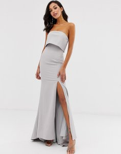 Read more about Jarlo bandeau overlay maxi dress in grey