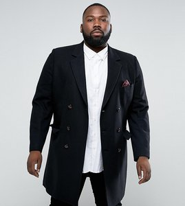 Read more about Gianni feraud plus premium wool blend oversized capone overcoat - black