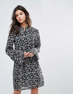 Read more about Mango boho printed swing dress - black