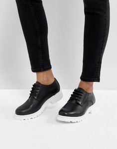 Read more about H by hudson leather chunky sole shoe - black leather