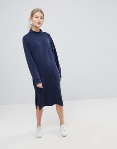 Read more about Selected high neck peach feel dress - navy