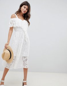Read more about Asos design lace midi sundress - white