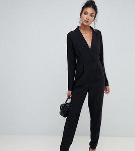 Read more about Asos design tall tux jumpsuit - black