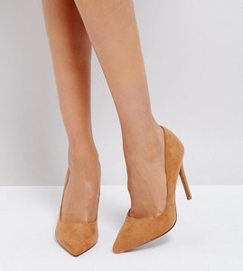 Read more about Asos paris wide fit pointed high heels - caramel
