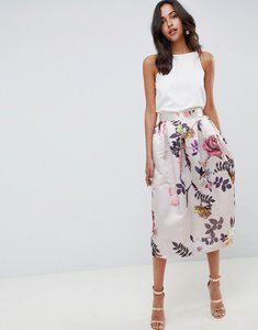 Read more about Closet london midi floral skirt - multi