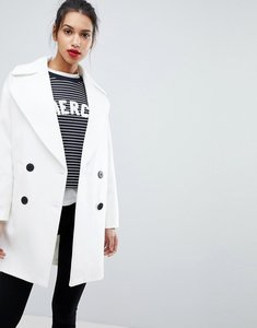 Read more about Asos cocoon coat - white