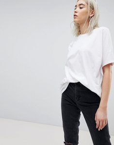 Read more about Asos design super oversized t-shirt with kimono sleeve in white - white