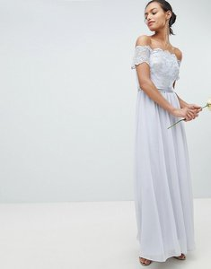 Read more about Coast madelene embroidered maxi dress - silver