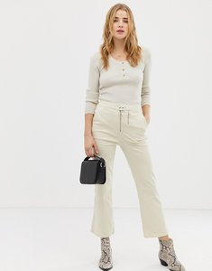 Read more about Asos design kick flare trouser with double zip in bone