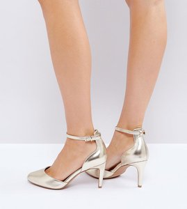 Read more about Asos swallow heels - gold