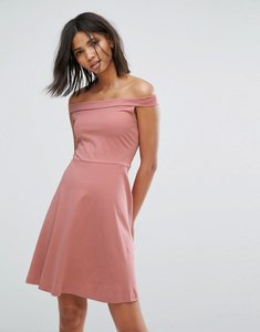 Read more about Only bardot skater dress - ash rose