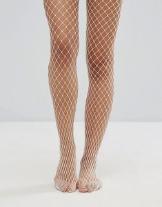 Read more about Gipsy extra large fishnet tights - white