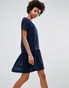 Read more about Ichi peplum shift dress - navy