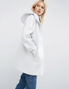 Read more about Asos bonded jacket with statement zip - white