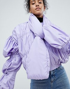 Read more about Asos bomber jacket with tie neck - purple