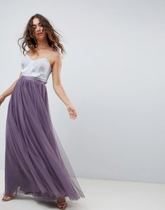c4ba770a68 Read more about Needle and thread tulle maxi skirt in purple - aubergine