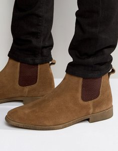 Read more about Kg by kurt geiger guildford chelsea boot in tan suede - tan