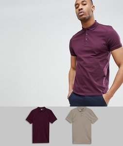 Read more about Asos design polo in jersey 2 pack save - regal schfld