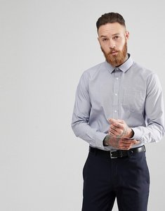 Read more about Process black fine stripe slim fit shirt - blue