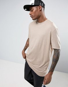 Read more about Asos knitted relaxed fit t-shirt in stone - stone