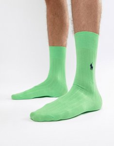 Read more about Polo ralph lauren egyptian cotton socks player logo in mint green - green