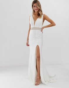 Read more about Jovani fitted maxi dress with rhinestone belt