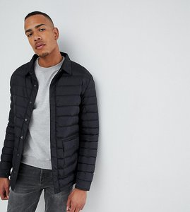 Read more about French connection tall quilted worker jacket - black