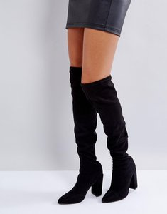 Read more about Missguided pointed over the knee boot - black