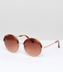 Read more about Mango oversized round tortoise sunglasses - brown