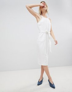 Read more about Unique 21 white dress with black stiching detail - white