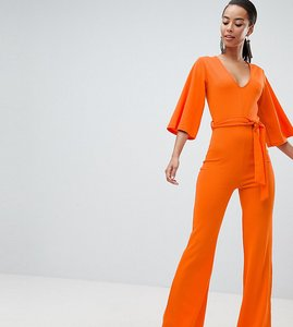 Read more about Missguided tall belted jumpsuit - orange
