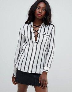Read more about Glamorous stripe blouse - white black stripe