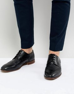 Read more about Kg by kurt geiger brogues in black leather - black