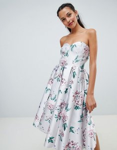 Read more about Chi chi london floral printed bandeau midi dress - multi