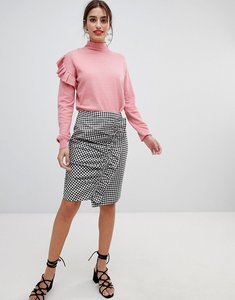 Read more about Na-kd - side frill pencil skirt - gingham